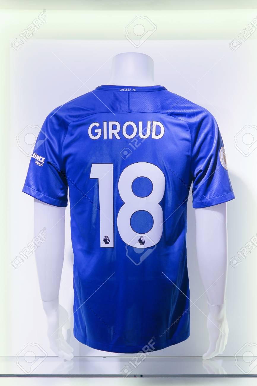 new styles 2c4da d682a London, United Kingdom - February 1, 2018: Shirt of Olivier Giroud,..