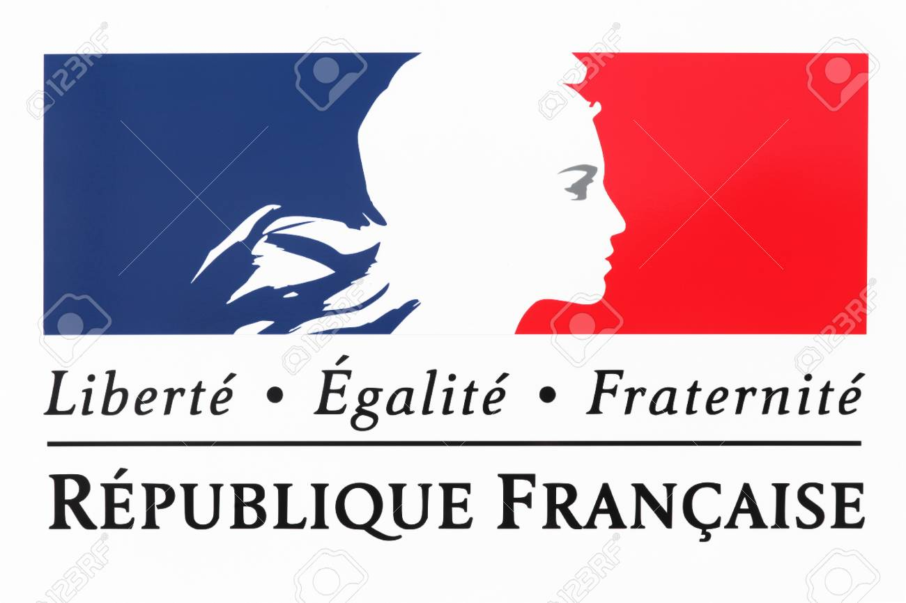 Liberty, equality, fraternity sign and the national motto of France - 98514833