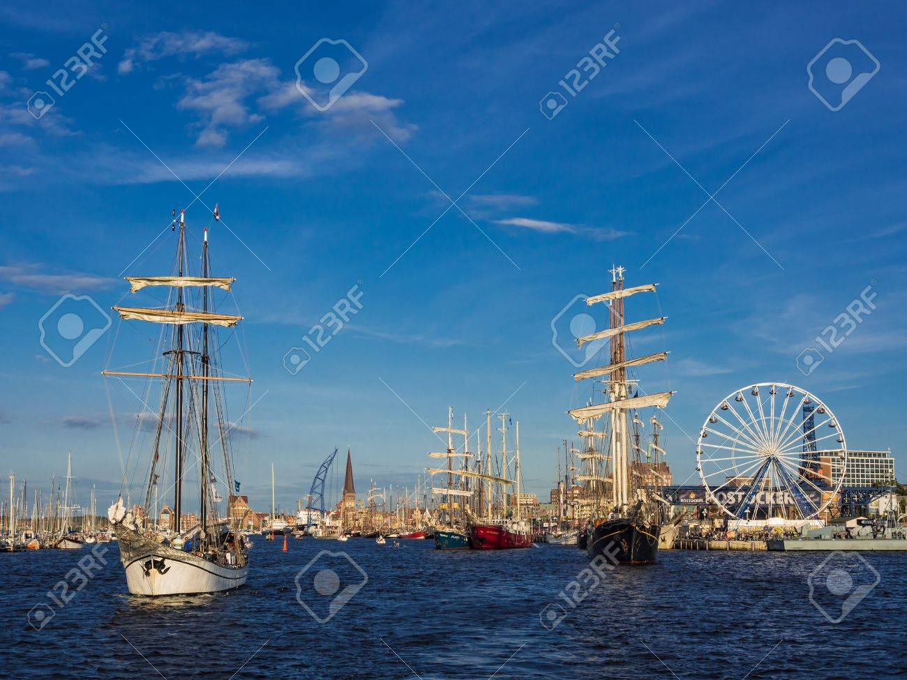 Hanseatic Sail 2012  in Rostock (Germany). Stock Photo - 14817838