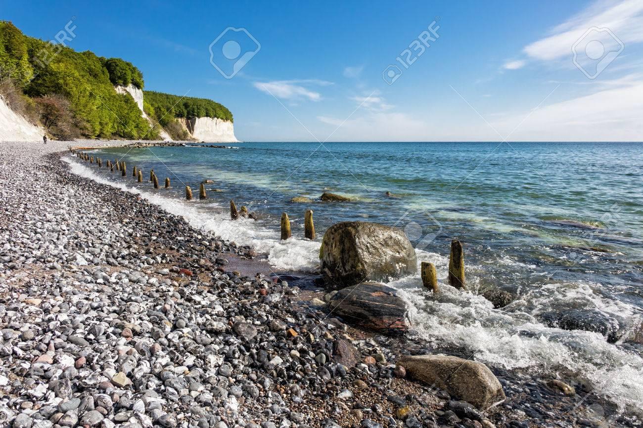 Chalk cliff on the island Ruegen in Germany - 28291584