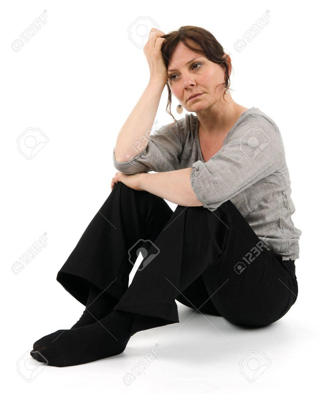 A melancholic woman Stock Photo - 11559193