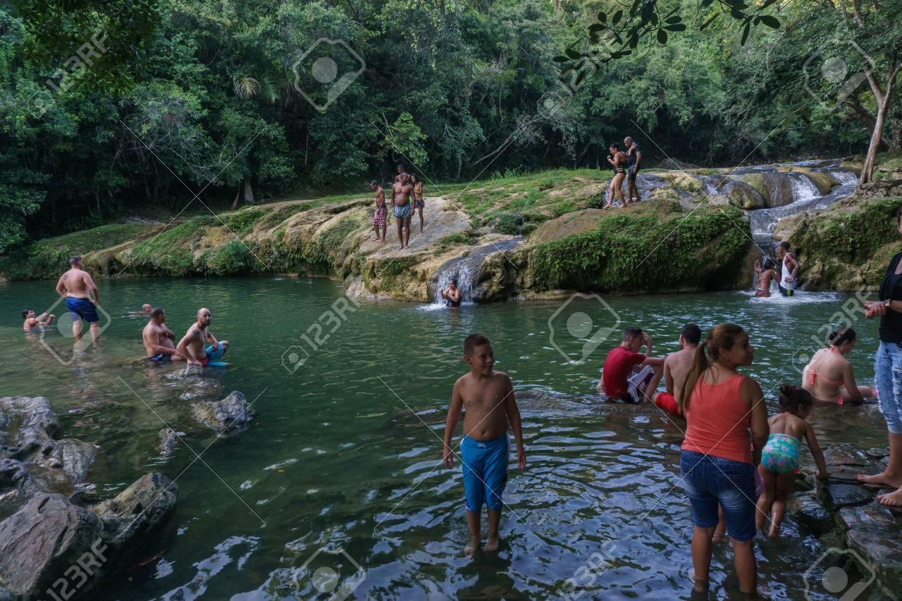 Las Terrazas Cuba December 28 2016 Tourist Relaxing On
