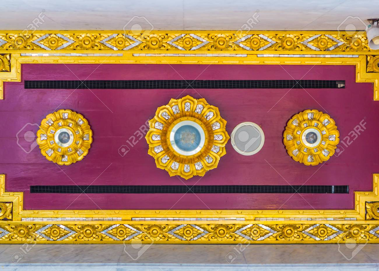 ceiling of temple at wat thai Stock Photo - 14370046