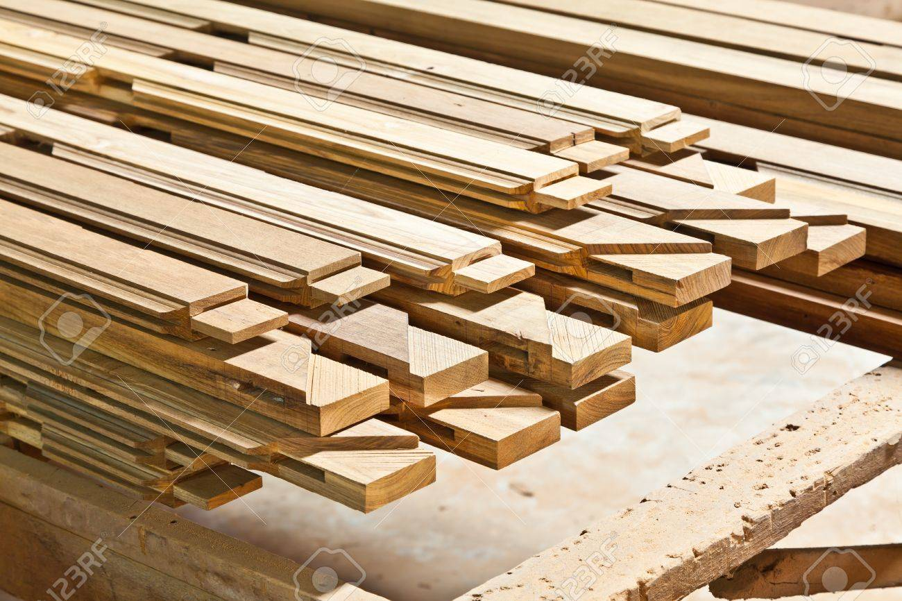 The stock of lumbers in a sawmill - 13174600