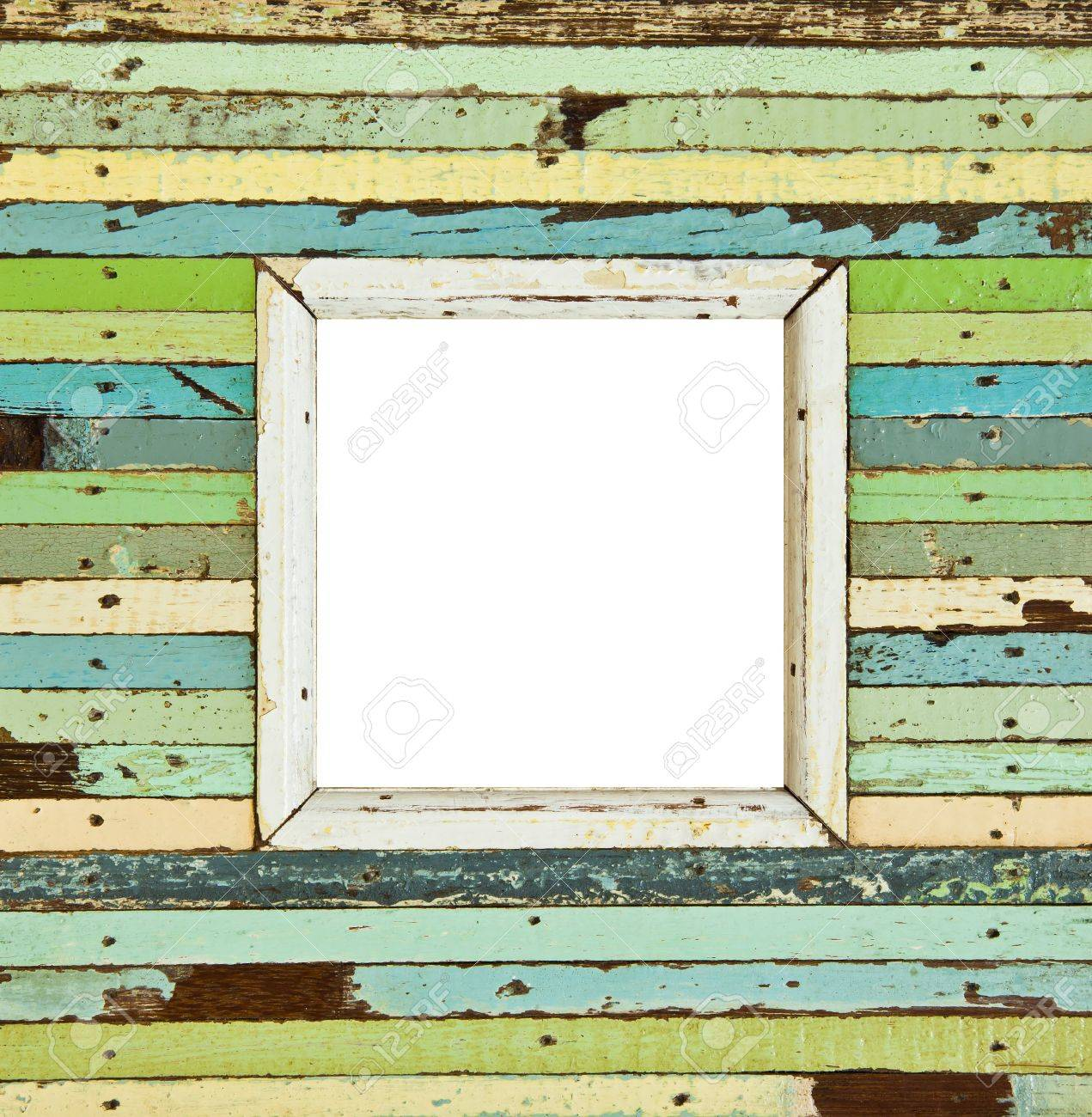 The isolated image of the colorful wooden picture frame - 15721628