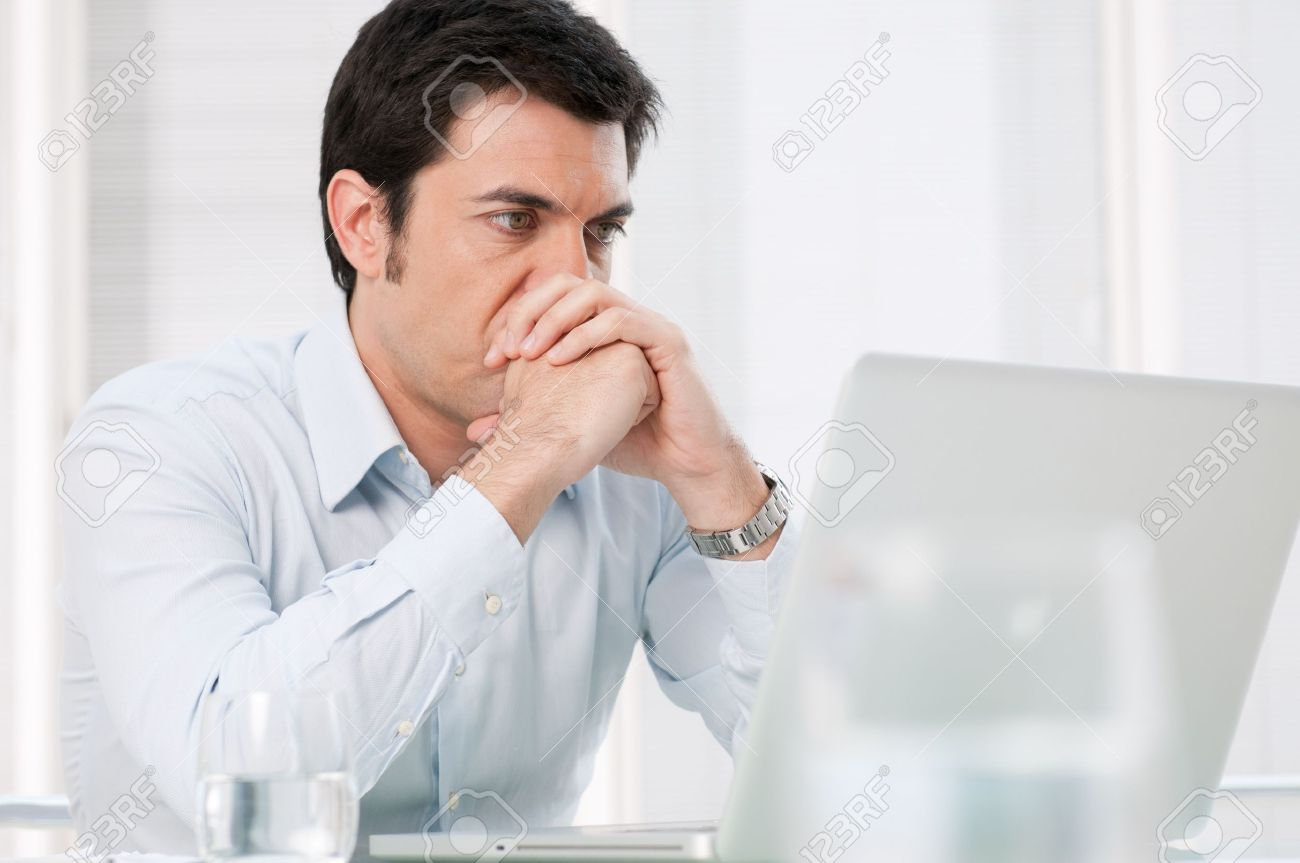 Image result for man watching computer