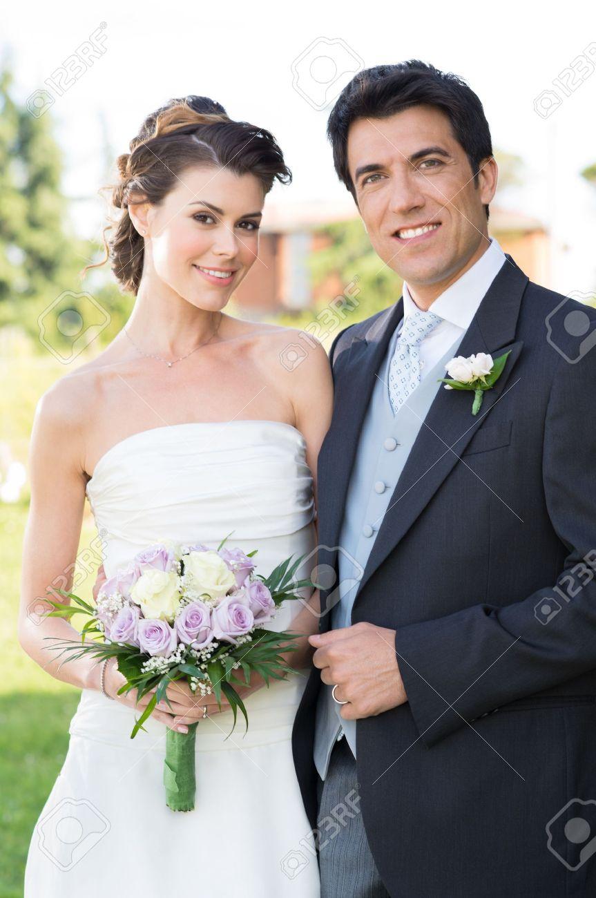 Portrait Of Happy Beautiful Young Married Couple Otdoor - 20838011