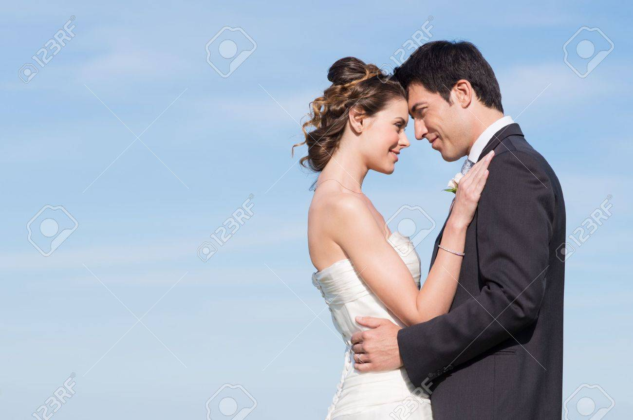 Portrait Of Happy Married Young Couple Outdoor Stock Photo - 20838019