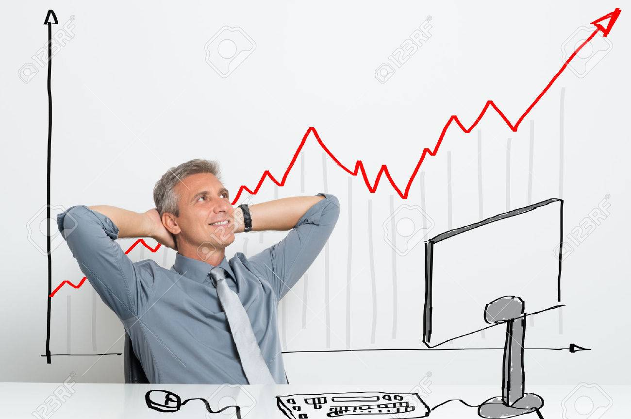 Portrait Of Smiling Successful Businessman With Successful Investment Stock Photo Picture And Royalty Free Image Image 33309549