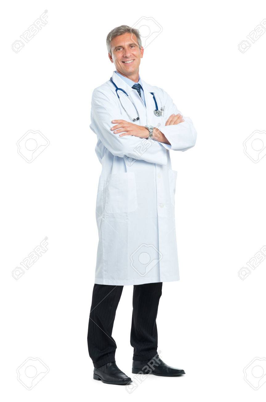 Portrait Of Smiling Mature Doctor With Arm Crossed Stock Photo - 33309455