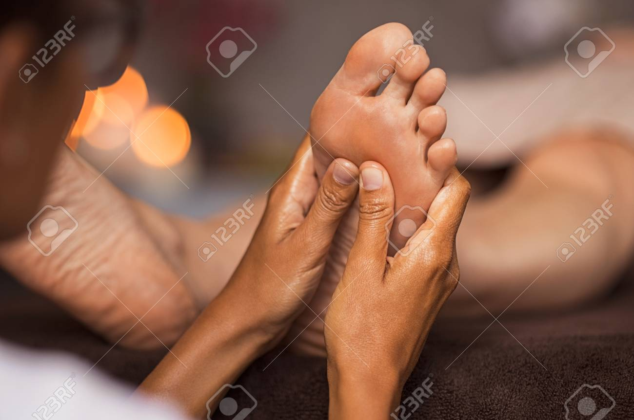 Ebony erotic massage