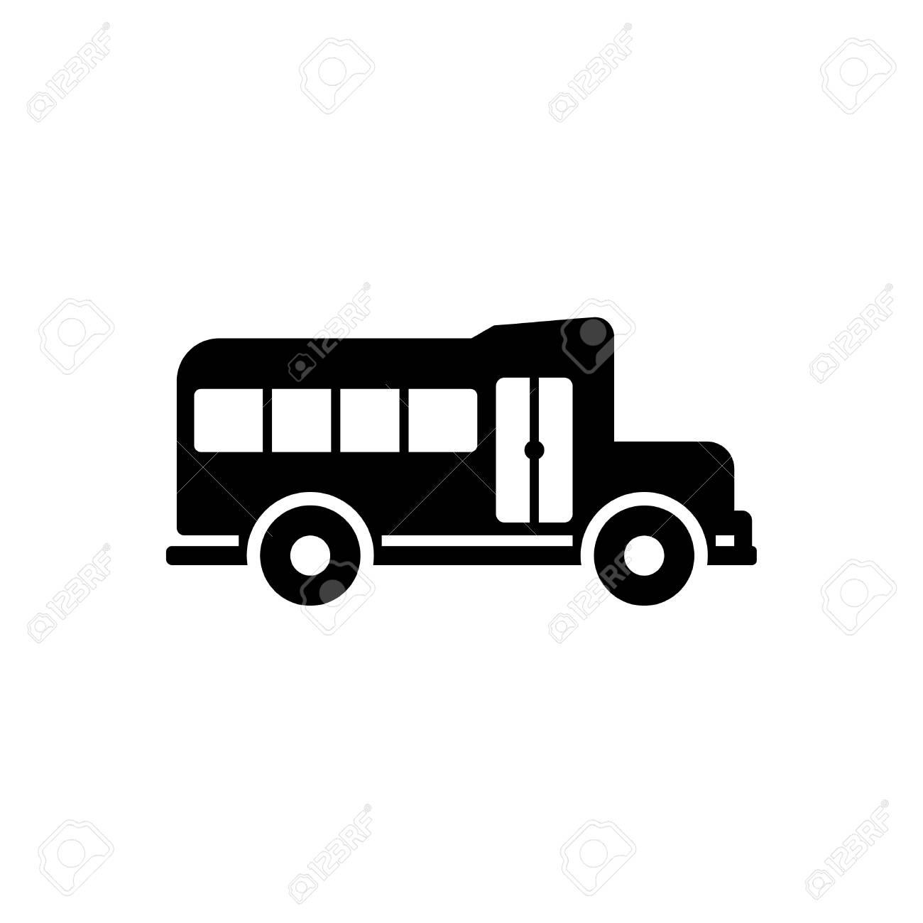 a9e52719fce School van icon vector isolated - bus icon vector black Stock Vector -  110118336