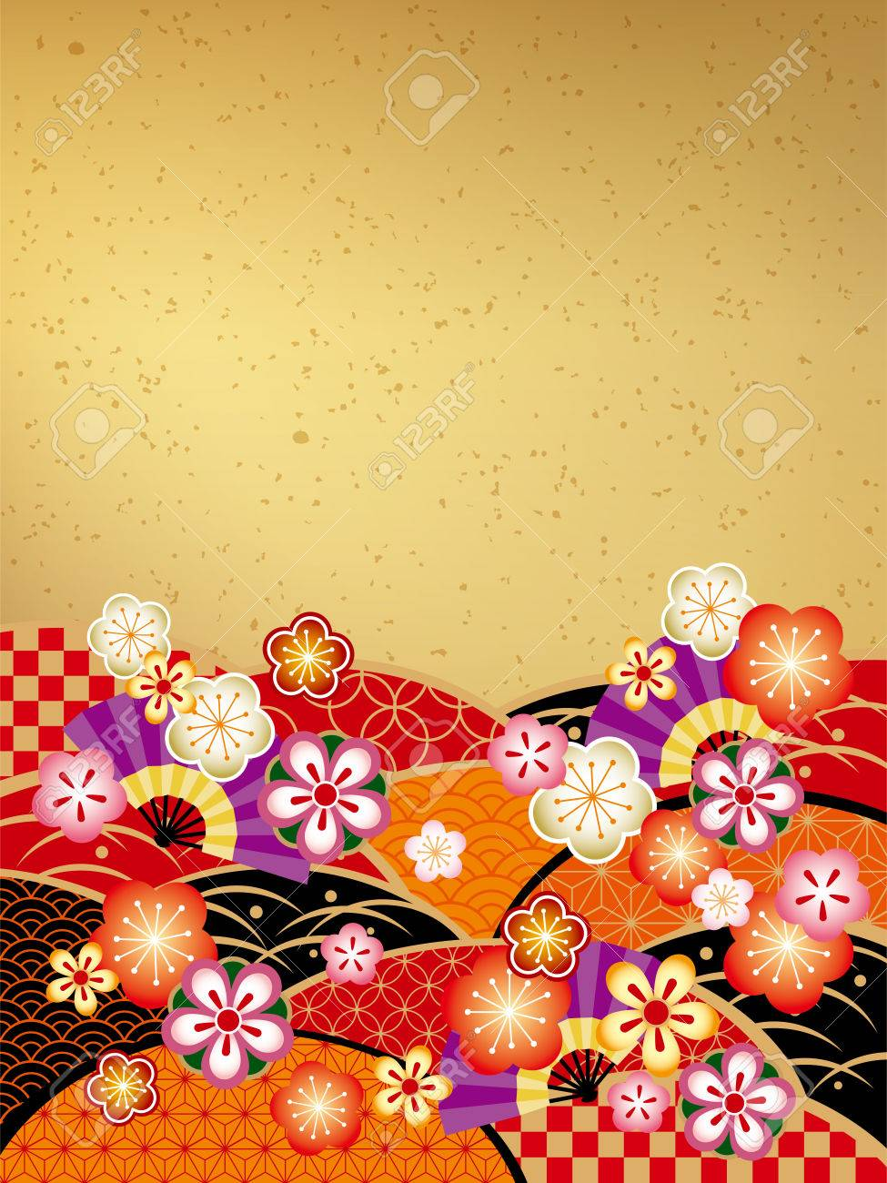 the japanese style background of the new year of japan stock vector 23242041