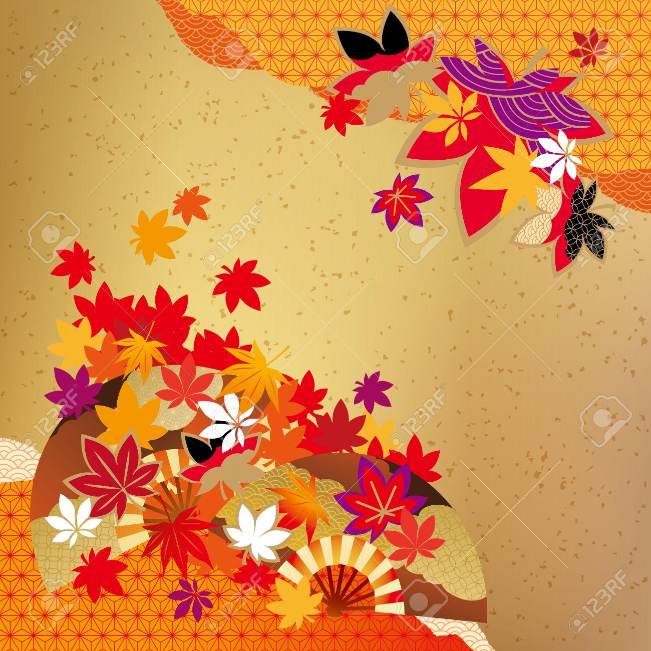 Pattern of beautiful autumn leaves - 61108003