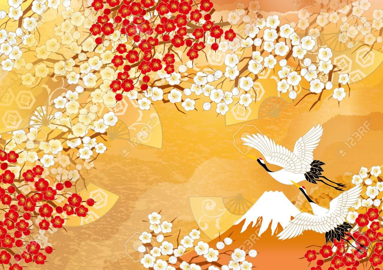 Beautiful crane illustrations of Japan - 63151440