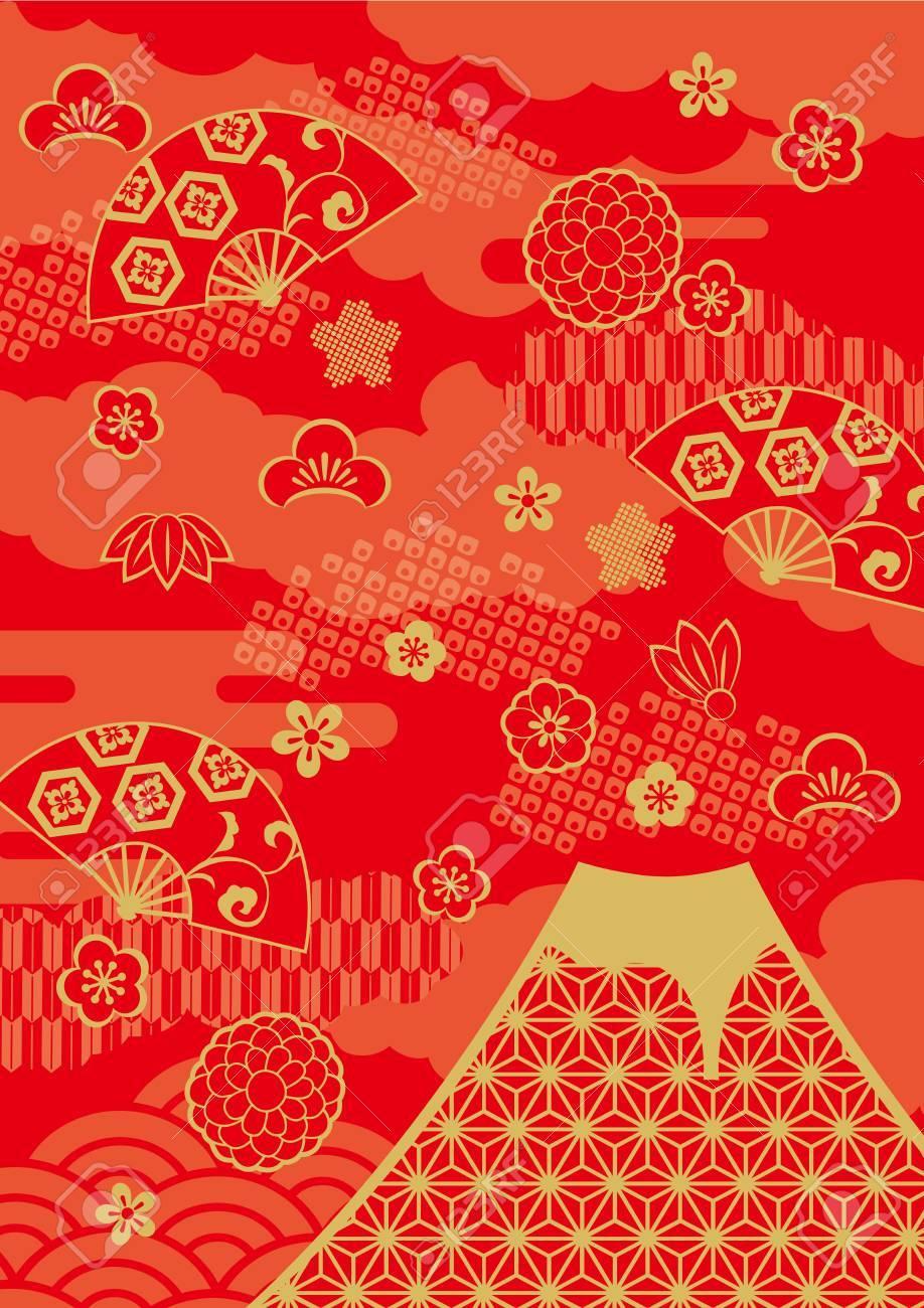 Pattern of beautiful Japanese New Year - 64540501