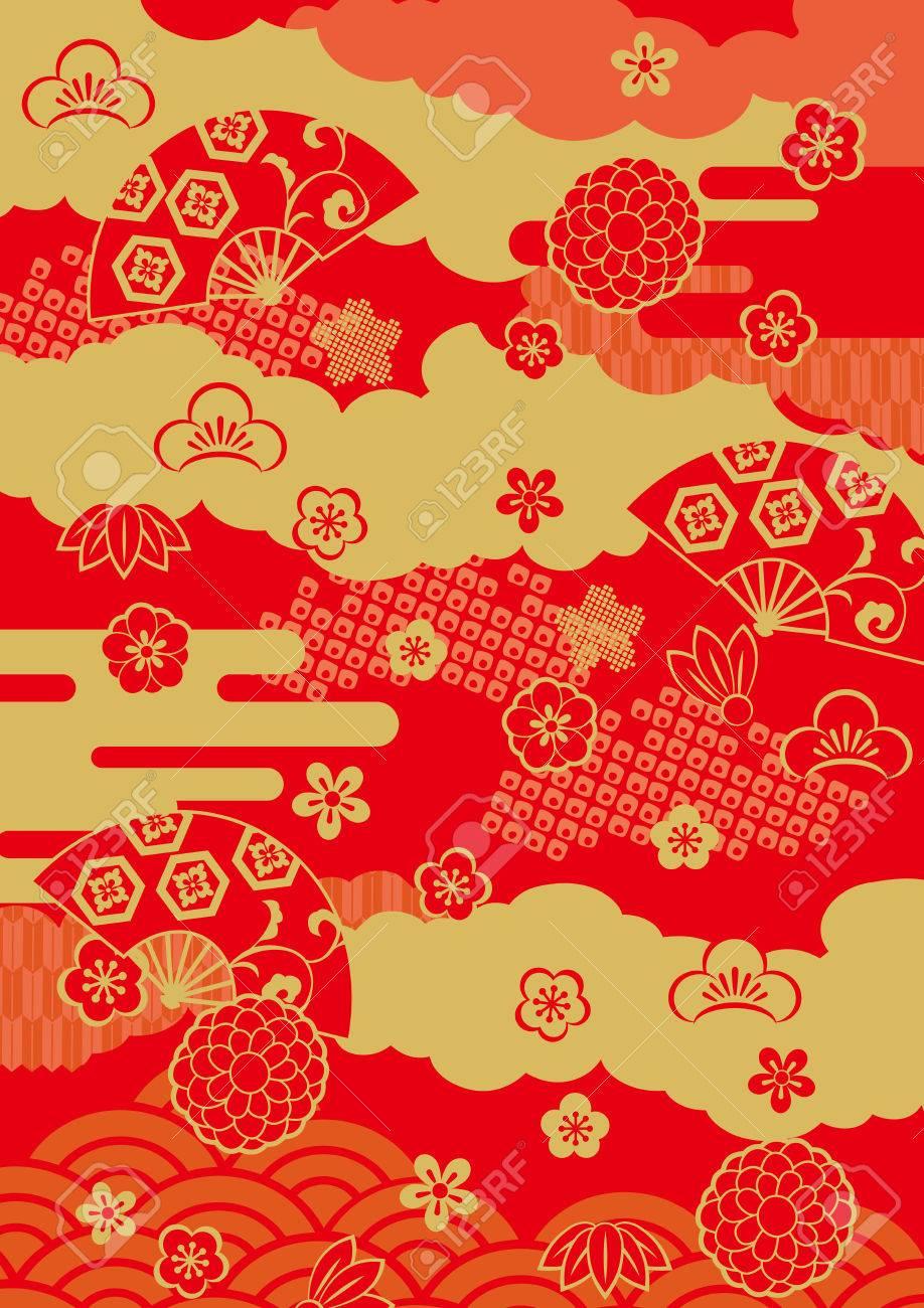 Pattern of beautiful Japanese New Year - 64540503