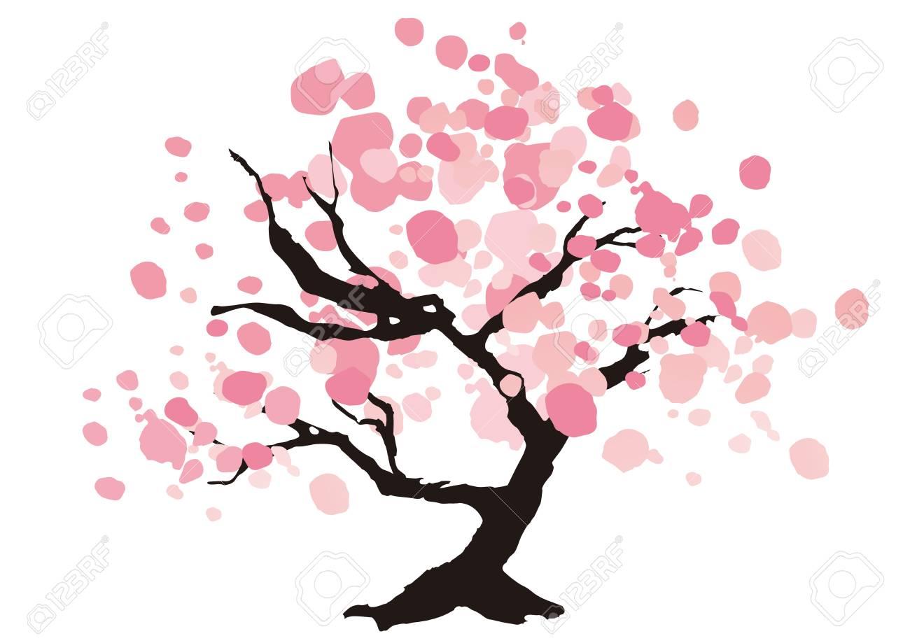 美しい桜の木のイラストのイラスト素材ベクタ Image 73419360