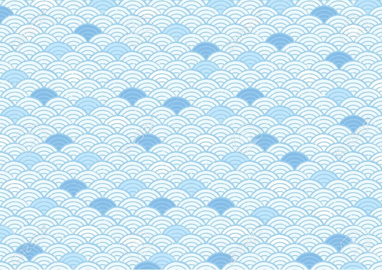 Japanese Japanese pattern (blue image) - 79632162