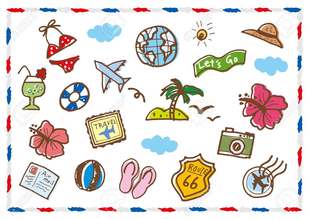 エア メール夏リゾートのイラスト素材ベクタ Image 82249301