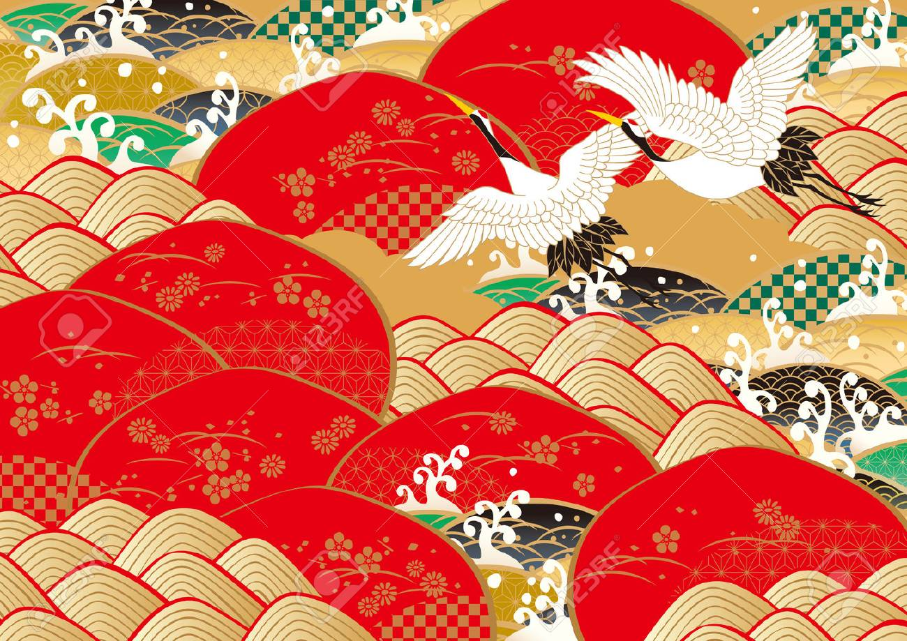 New Year's pattern in Japan vector illustration. - 85401963