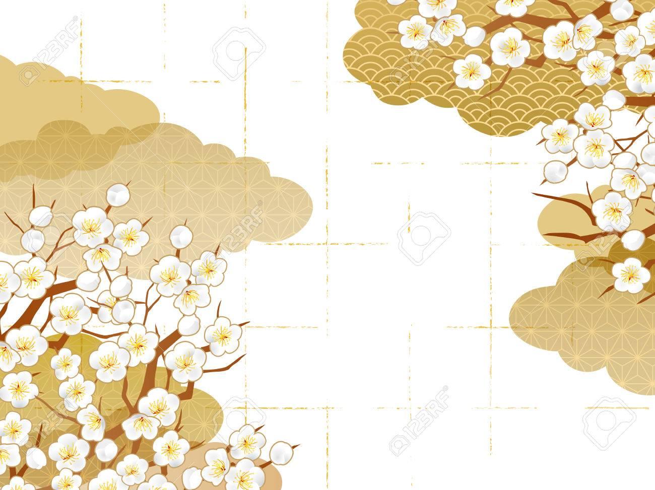 Japanese pattern background - 85480604