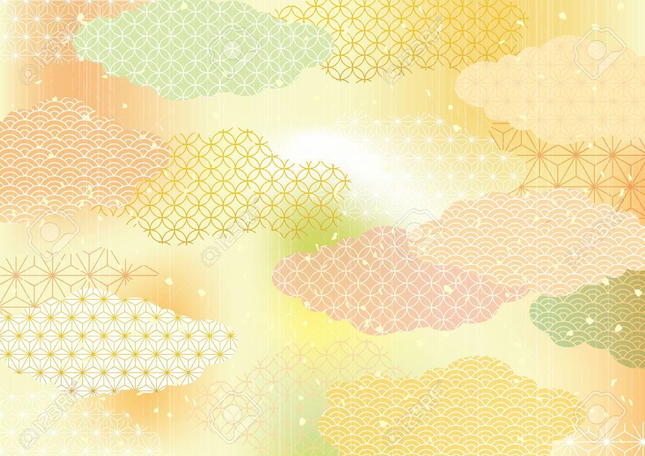 Japanese pattern background - 87049020
