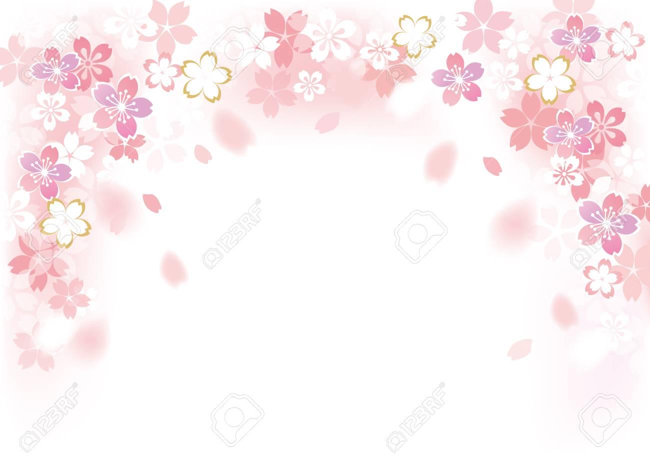 Gentle sakura blossoms illustration - 93081677