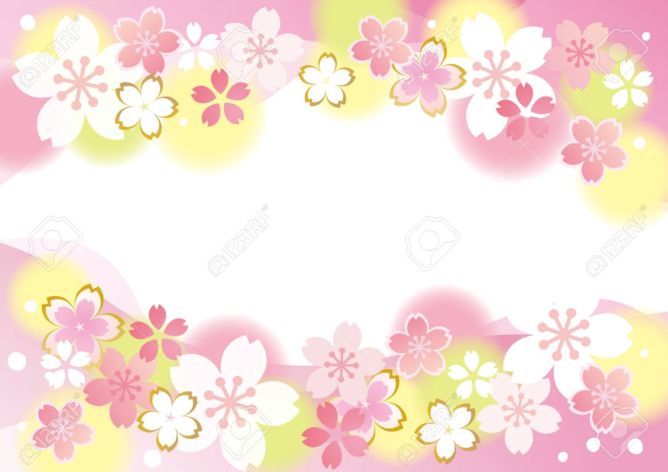 sakura flowers background in pink yellow and white colors royalty free cliparts vectors and stock illustration image 96007933 sakura flowers background in pink yellow and white colors
