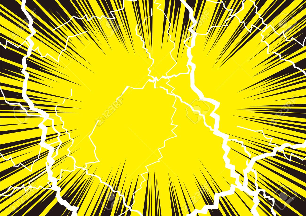Illustration that shock is great with radiation and lightning - 124516644