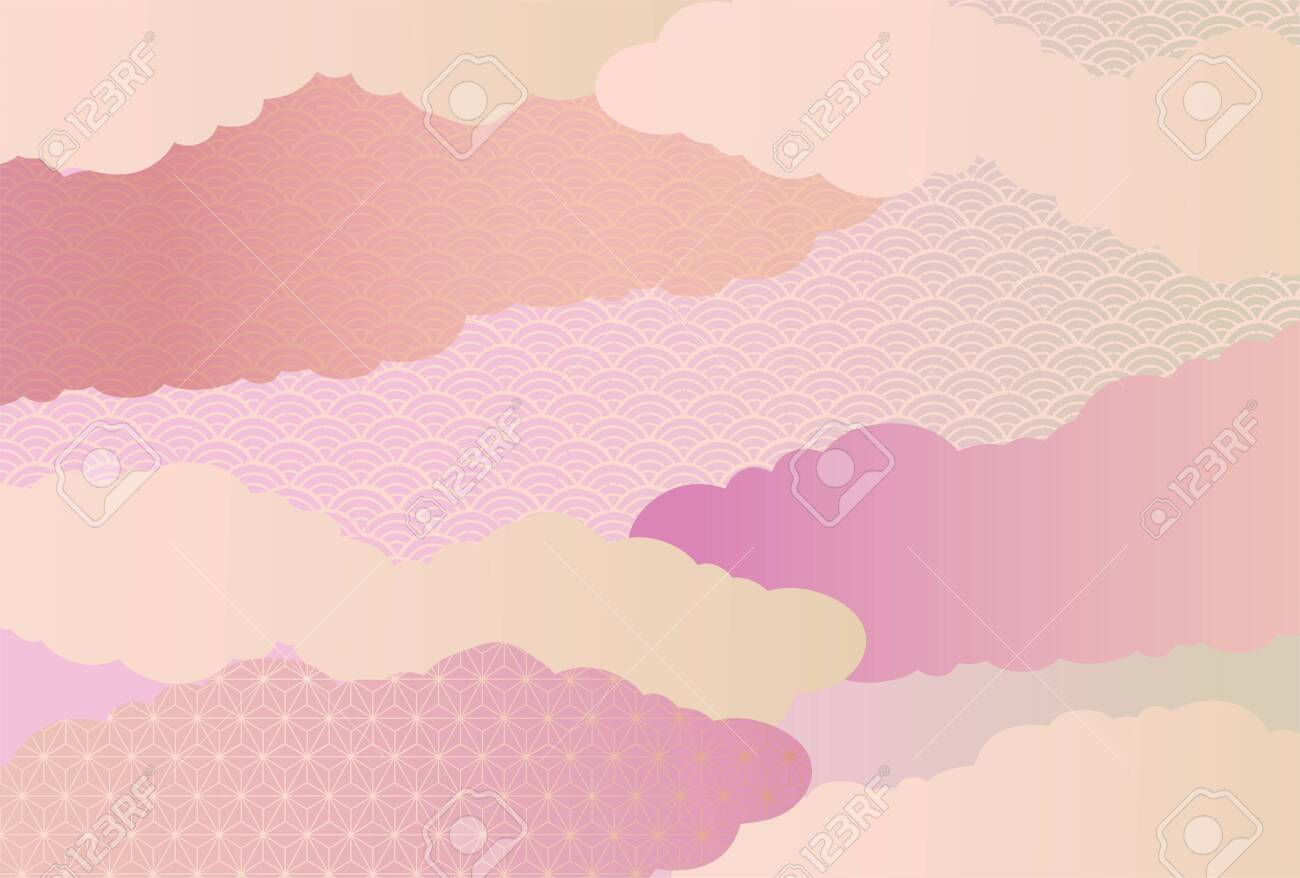 It is a background illustration image of a beautiful Japanese pattern in Japan. - 156716667