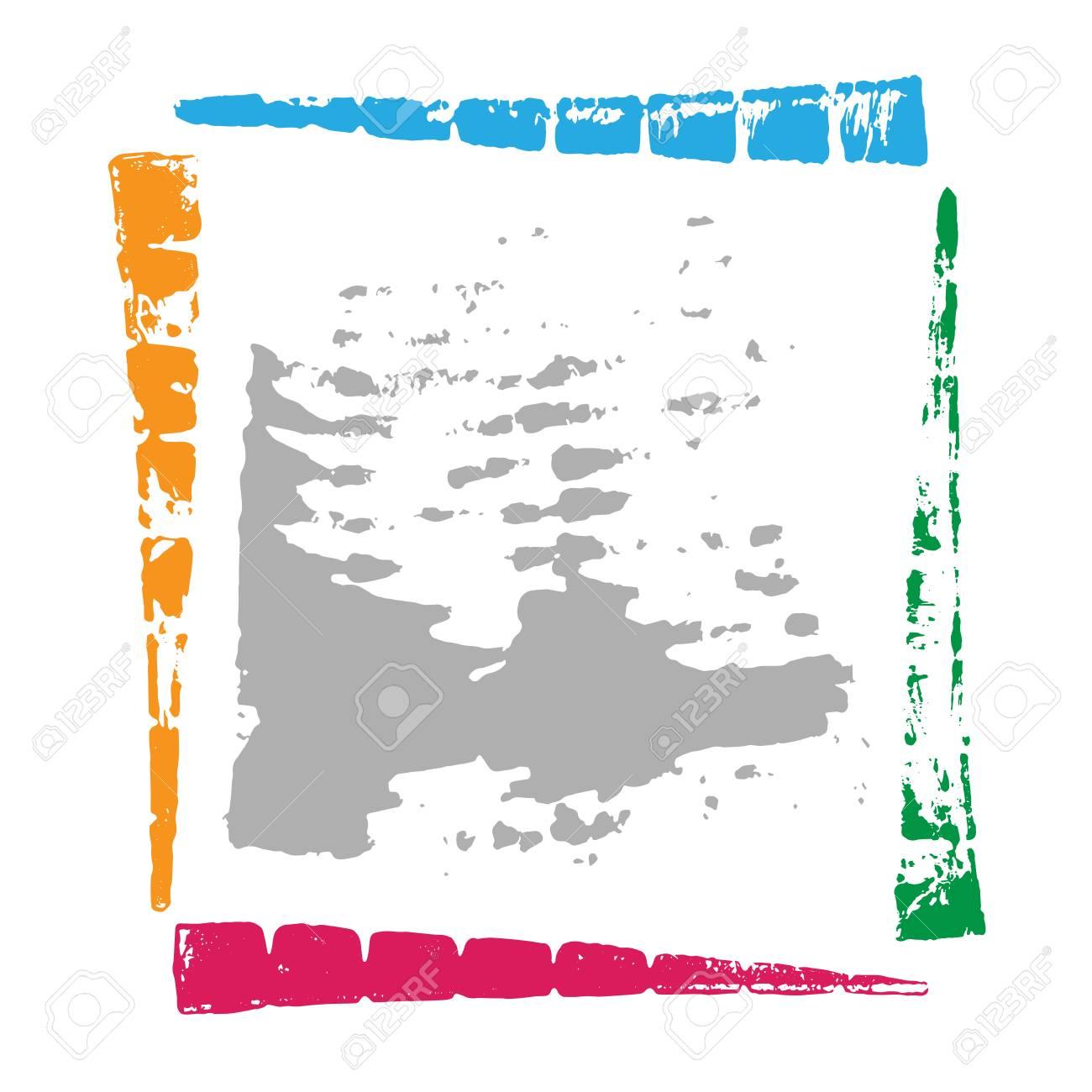 Grunge Farbe Rahmen Mit Platz Für Text. Lizenzfrei Nutzbare ...