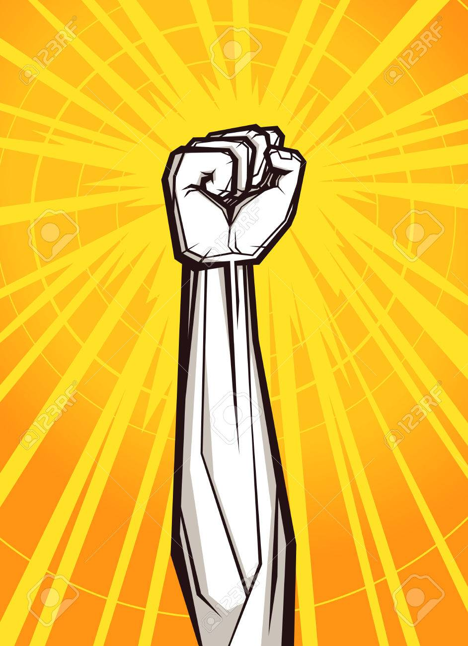 Geballten Faust Vektor-Illustration Für Widerstand Und Revolution ...