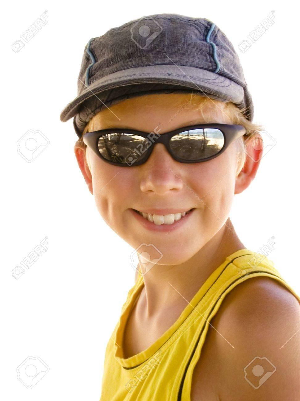 smart boy with sunglasses Stock Photo - 2875278