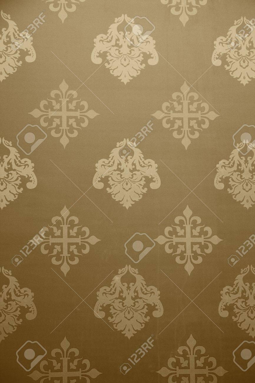 ビンテージ壁紙 18 世紀からの歴史的なパターン 穀物を追加 の写真