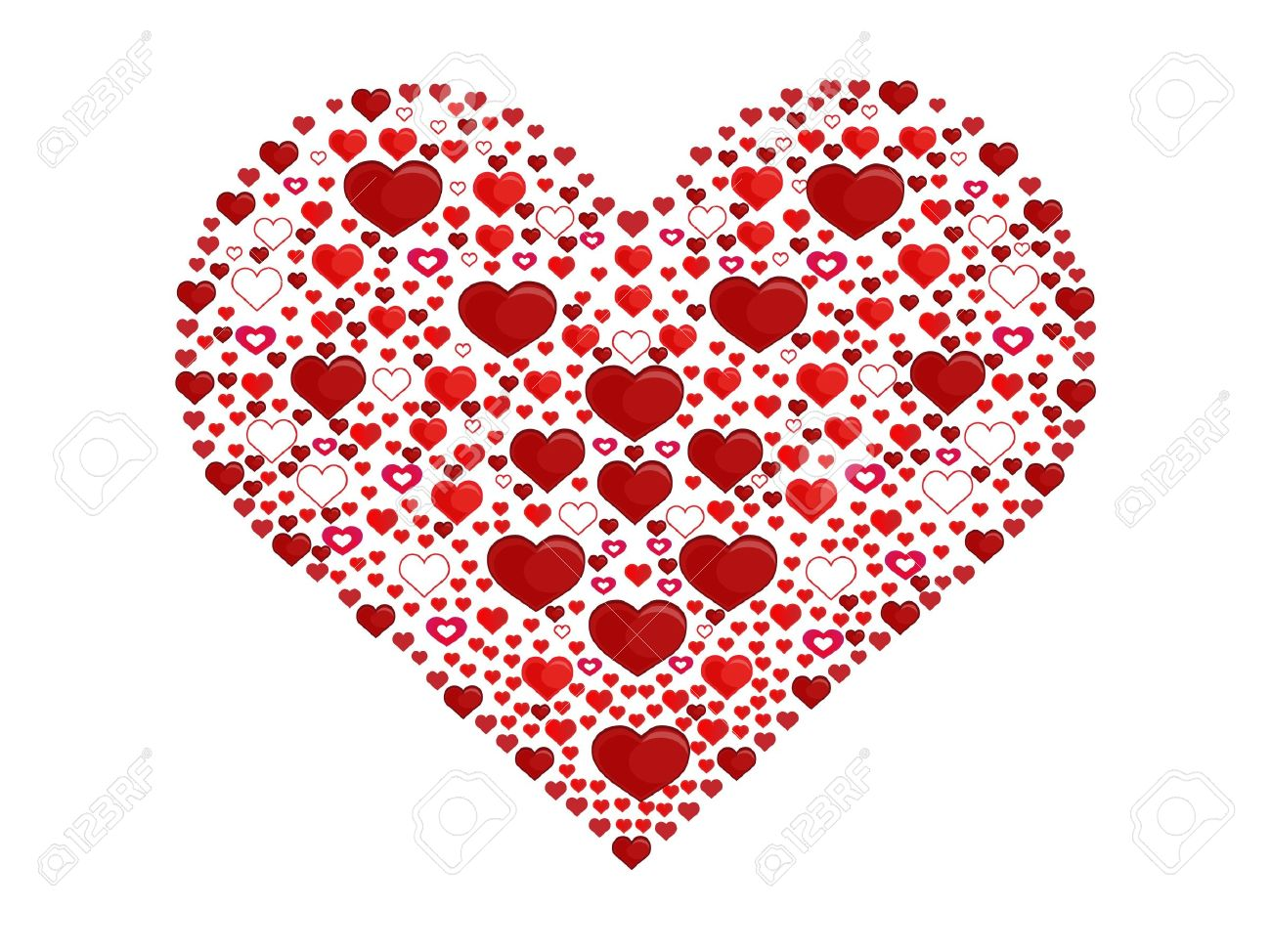 Big heart made of little hearts Stock Vector - 12426592