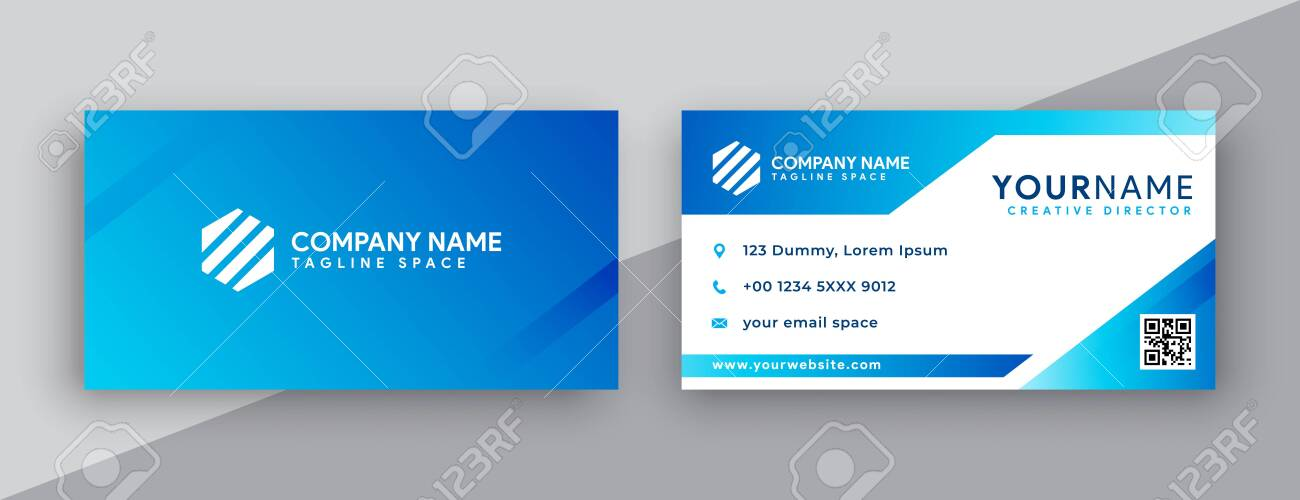Modern Business Card Design Double Sided Business Card Design Stock Photo Picture And Royalty Free Image Image 135212029
