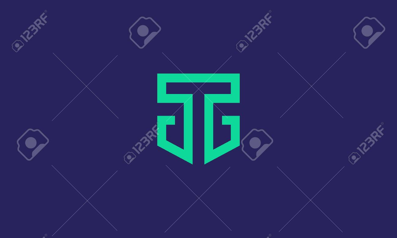 TG logo . abstract letter T and G in the shield . modern and clean line art style . vector illustration eps10 - 149742108