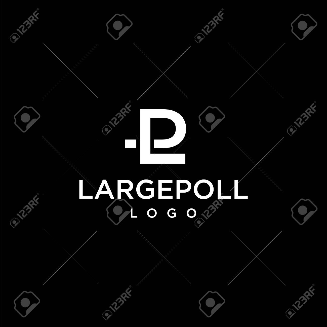 Simple and modern logo design of letter P and L with dark background - - Vector. - 142849698