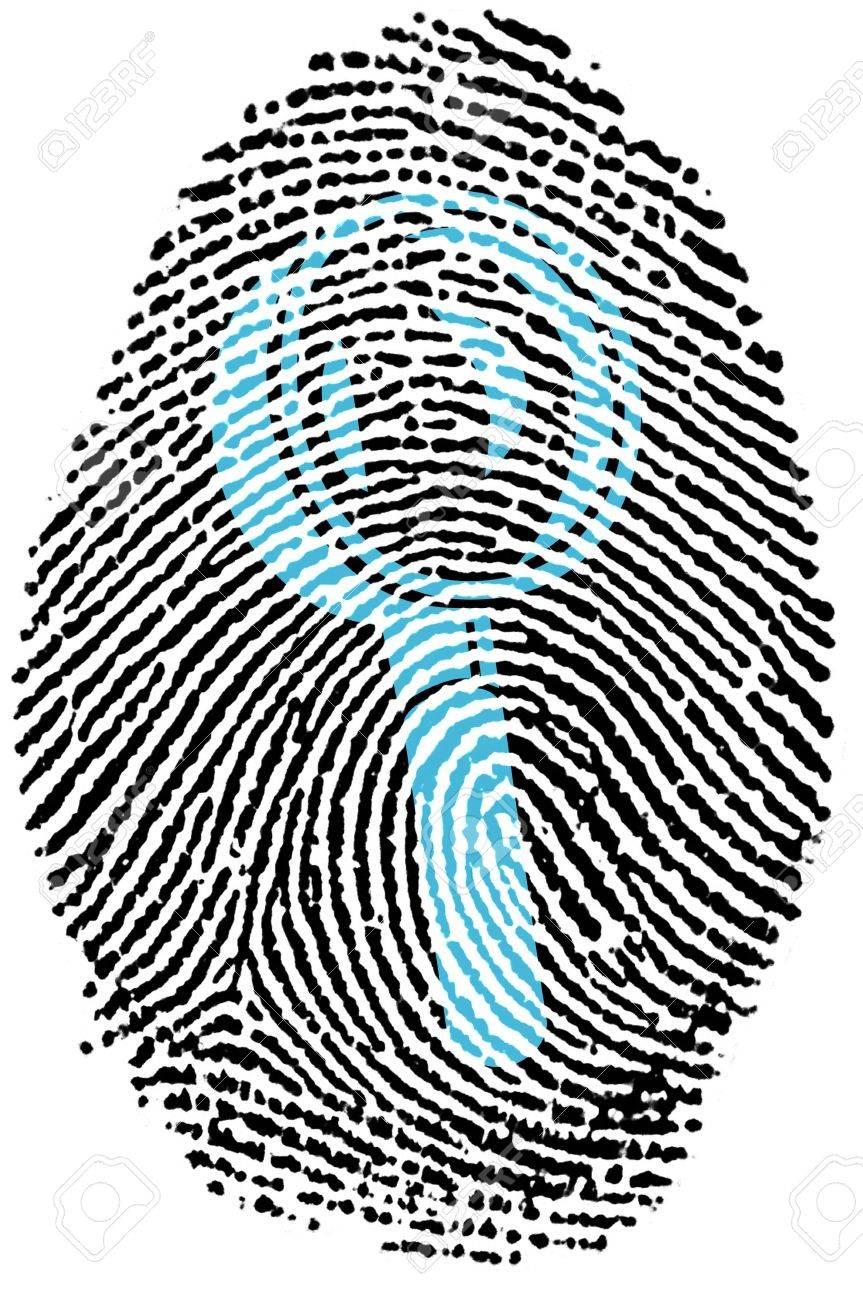 Fingerprint - Magnifying Glass Stock Photo - 6924530