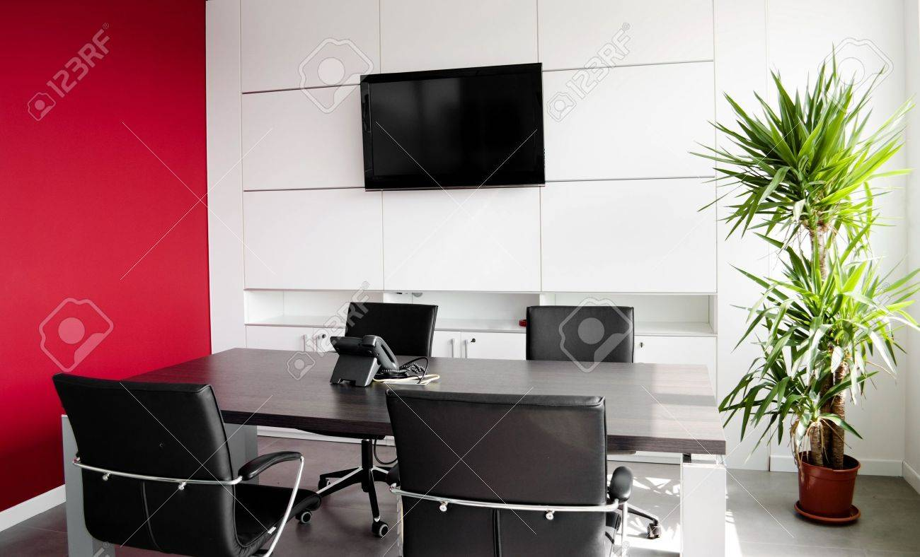 interior office building with furniture and a red wall stock photo 9324122 building office furniture