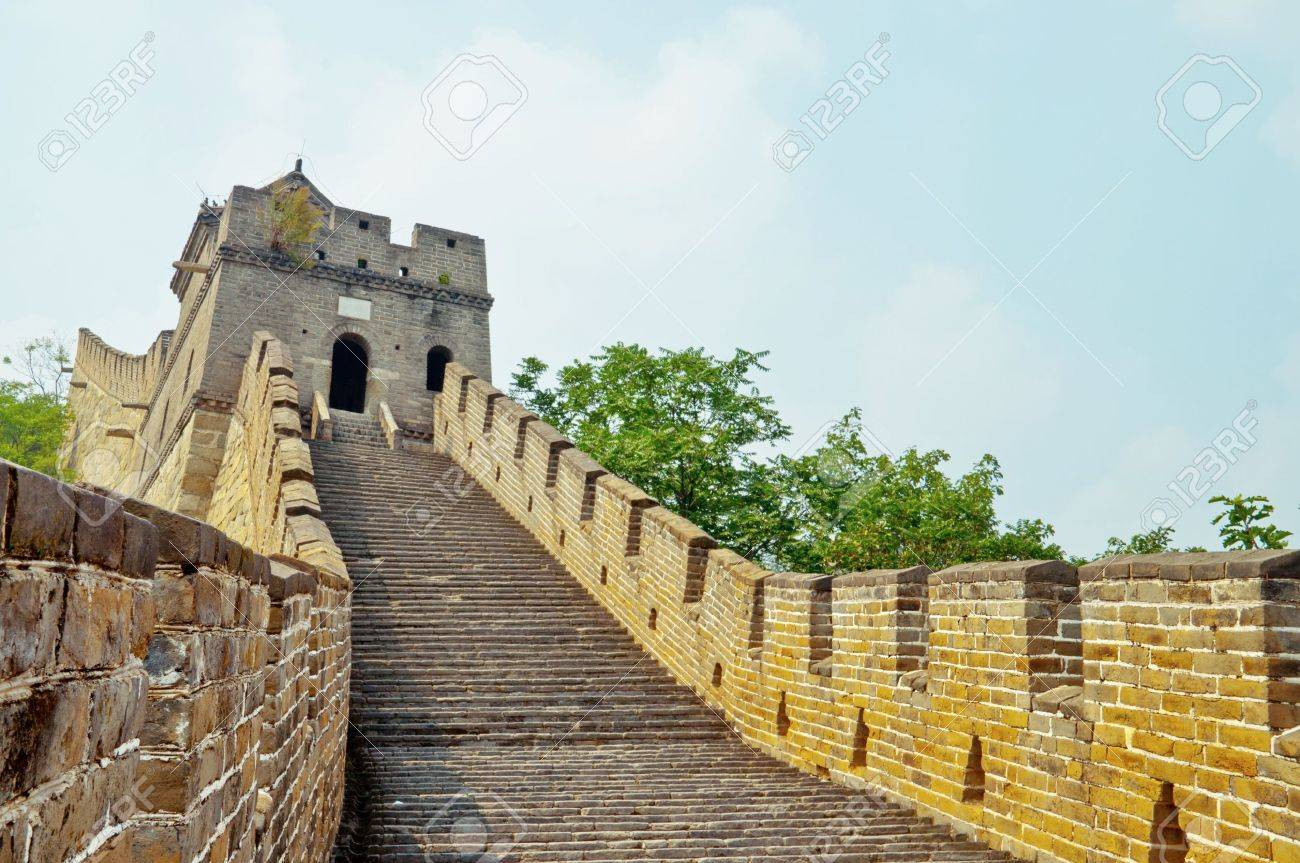 Section of The Great Wall in mutianyu site, China Stock Photo - 10420381