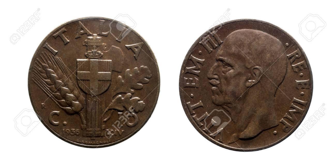 Zehn 10 Cent Lire Kupfermünze 1936 Reich Vittorio Emanuele Iii