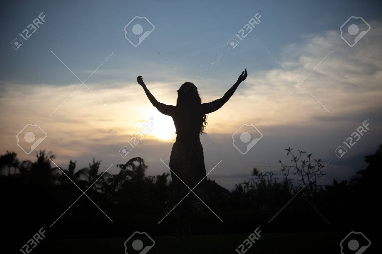 Free Happy Woman Enjoying Nature Beauty Girl Outdoor Freedom Stock Photo Picture And Royalty Free Image Image 45516347