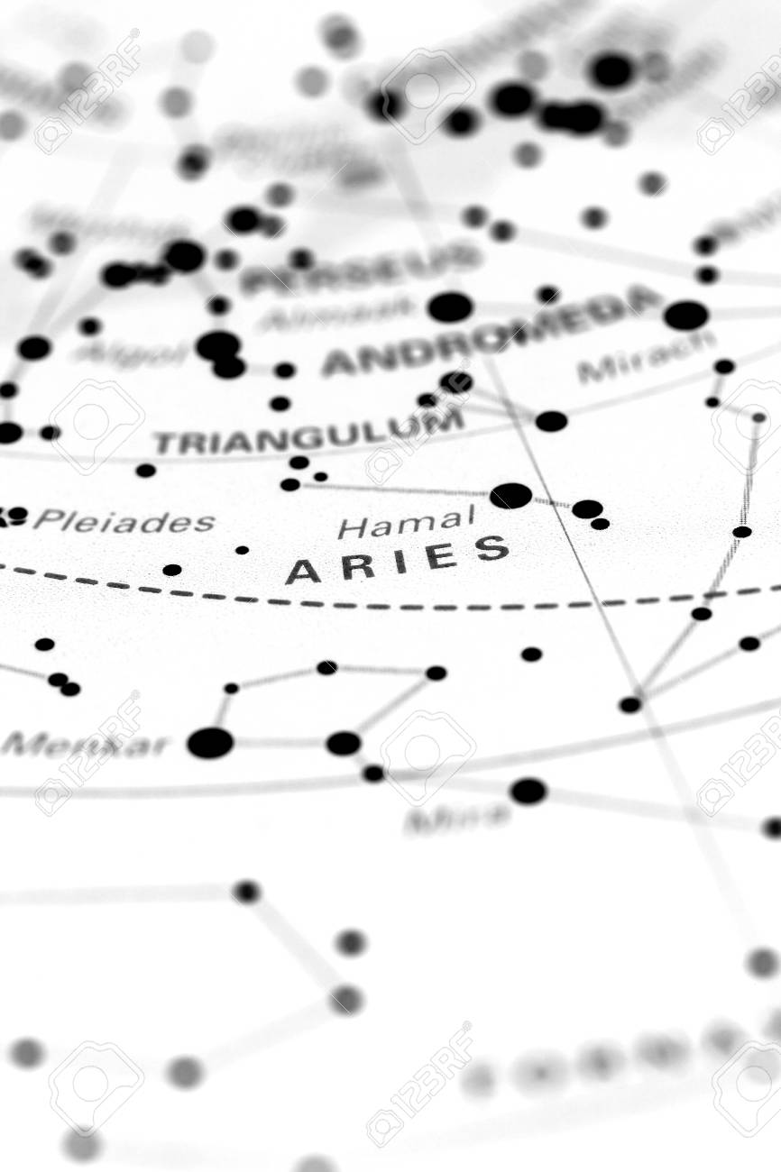 Aries on a star map