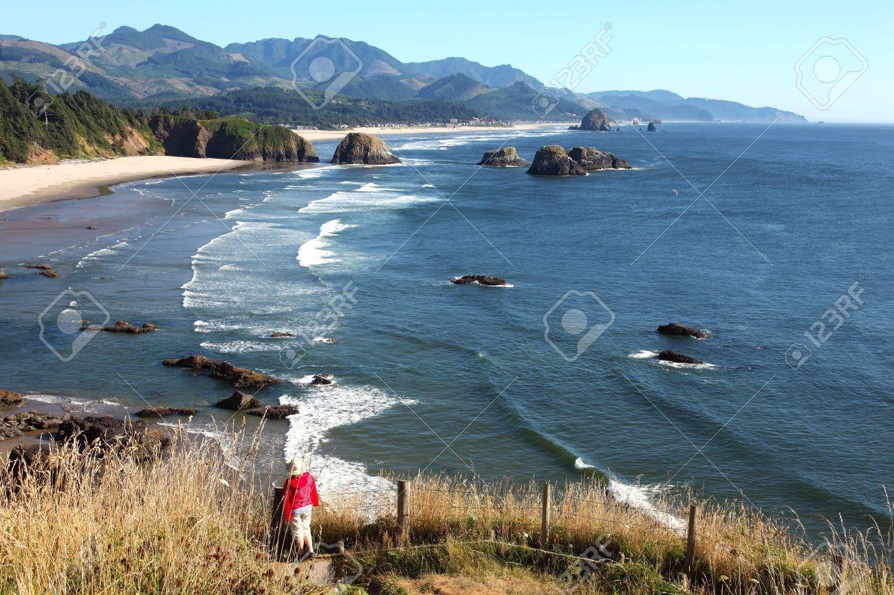 Oregon coast pacific northwest cliffs beaches. Stock Photo - 10347342