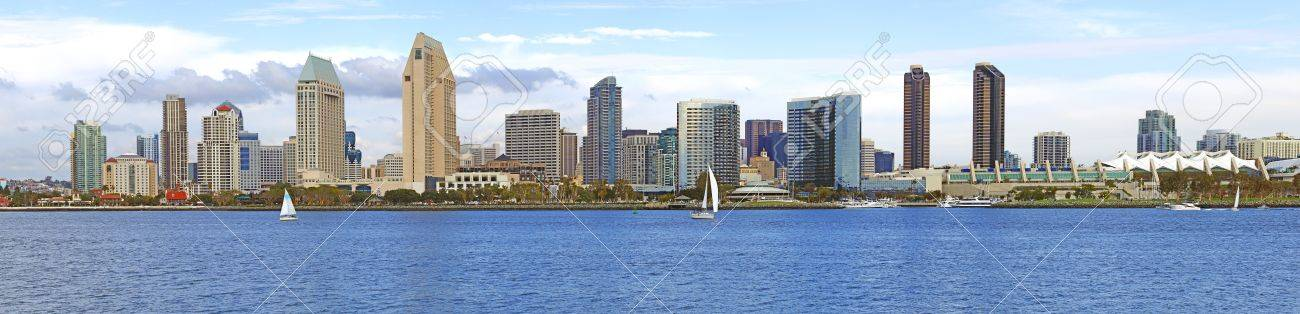 A panorama of San Diego skyline California. Stock Photo - 11475232