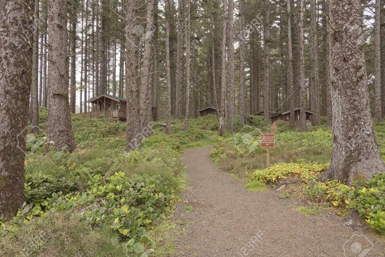 Coastline cabins for rent at the Oregon coast