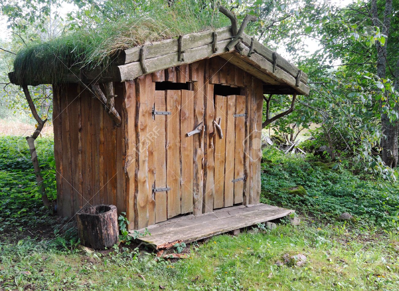 Image Of An Outhouse Or Outdoor Toilet In The Country Stock Photo 35071403
