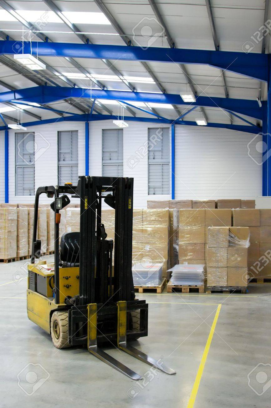 Warehouse Interior And Forklift Stock Photo - 5227657